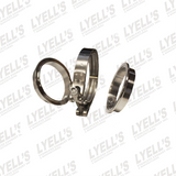 "2¼"" V-Band Clamp Kit - 304 Stainless Steel - Lyell's Stainless Exhaust Inc., Mandrel Bending Ontario"