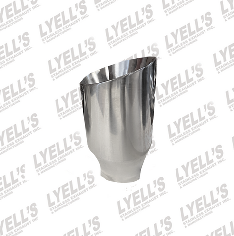 "3 1/2"" OD Round - 2 1/4 "" ID Inlet -  304 Stainless Exhaust Tip"