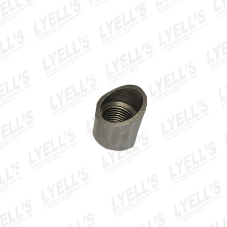 Mild Steel O2 Bung - Angled - Lyell's Stainless Exhaust Inc., Mandrel Bending Ontario