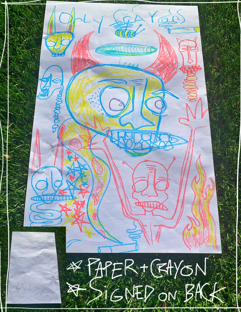 "Only Crayons 10"" x 16"" Mod Sun Drawing"