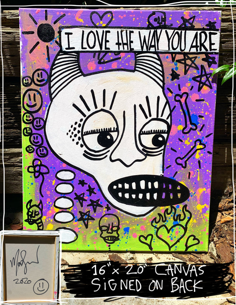 "I Love The Way You Are 16"" x 20"" Mod Sun Painted Canvas"