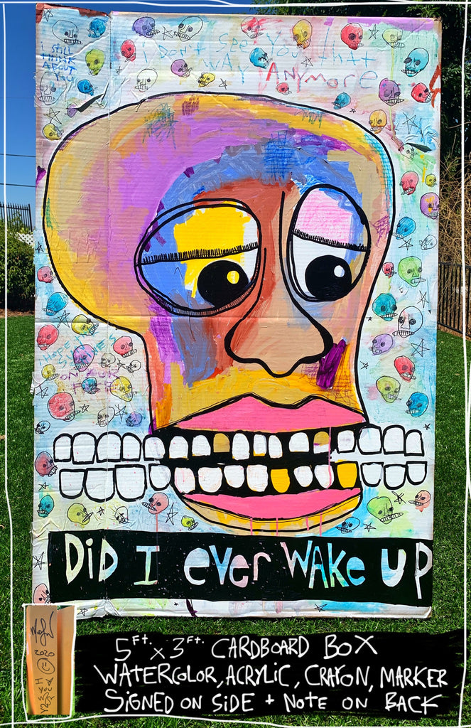 Did I Ever Wake Up 5ft x 3ft Cardboard Mod Sun Painting