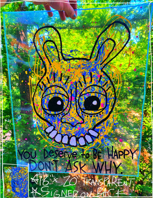 "You Deserve To Be Happy 16"" x 20"" Mod Sun Painting"