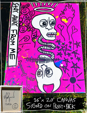 "Stay Away v3 16"" x 20"" Mod Sun Painted Canvas"