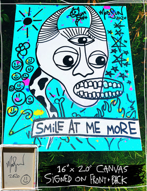 "Smile At Me More 16"" x 20"" Mod Sun Painted Canvas"