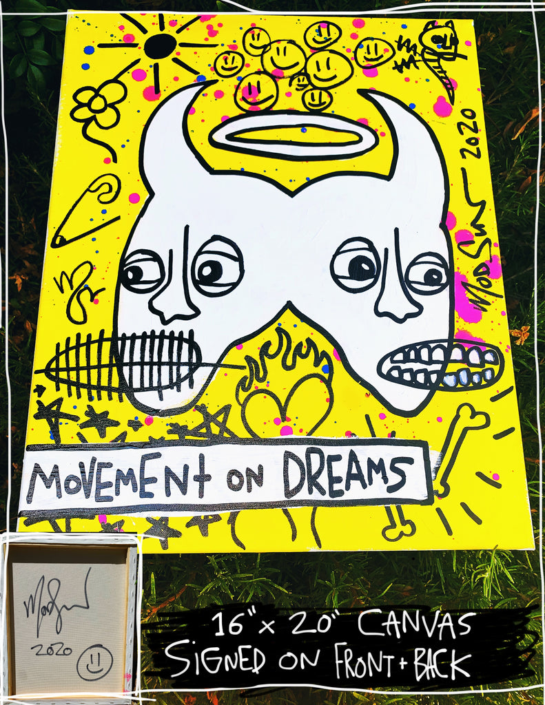 "Movement On Dreams 16"" x 20"" Mod Sun Painted Canvas"