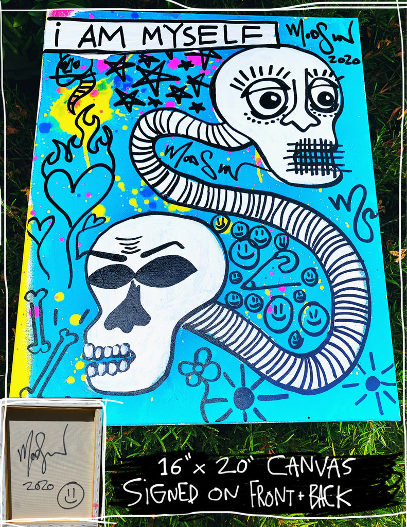 "I Am Myself 16"" x 20"" Mod Sun Painted Canvas"