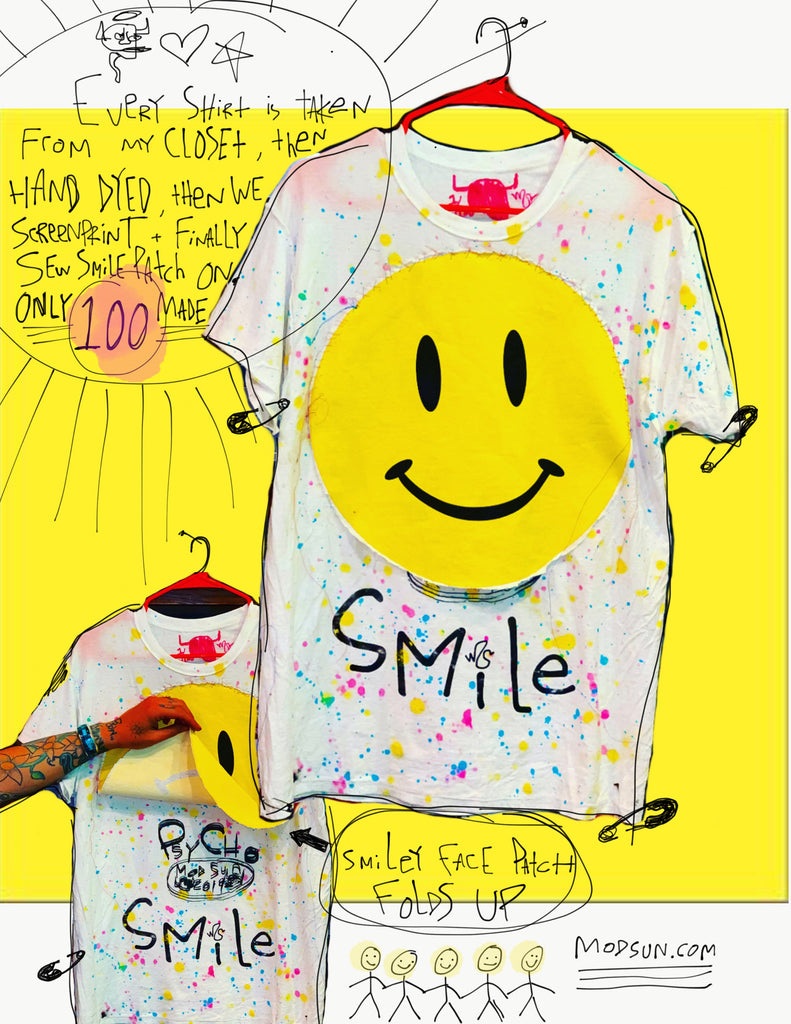 Smiley Face Patch Tee