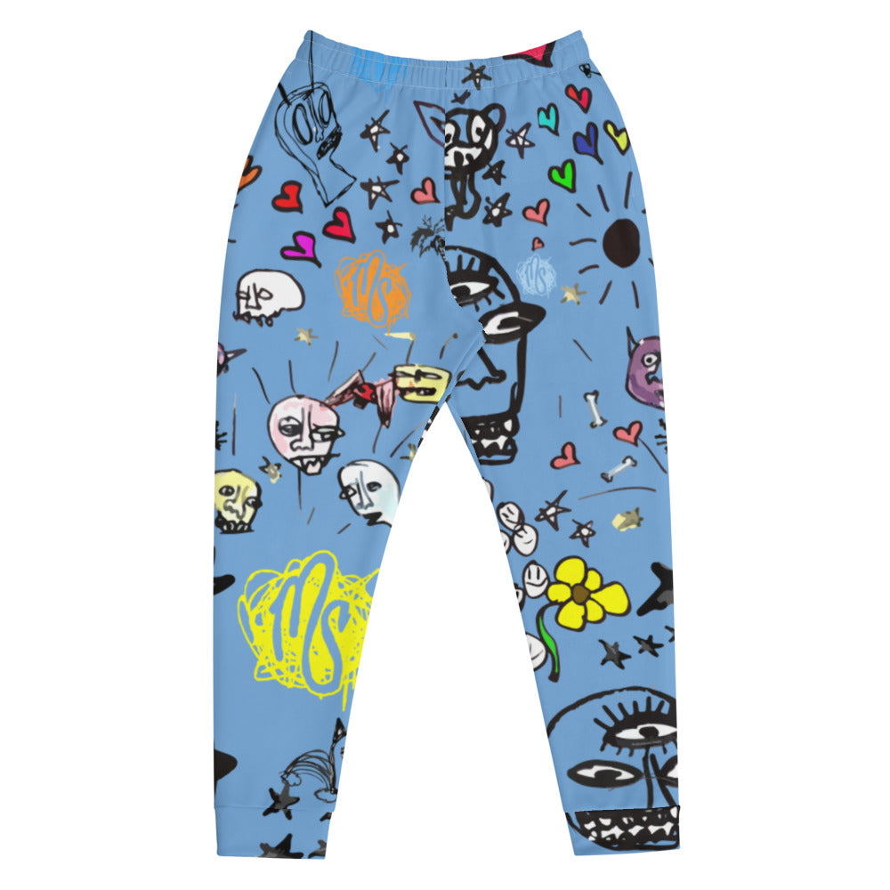 Art All Over Men's Blue Joggers
