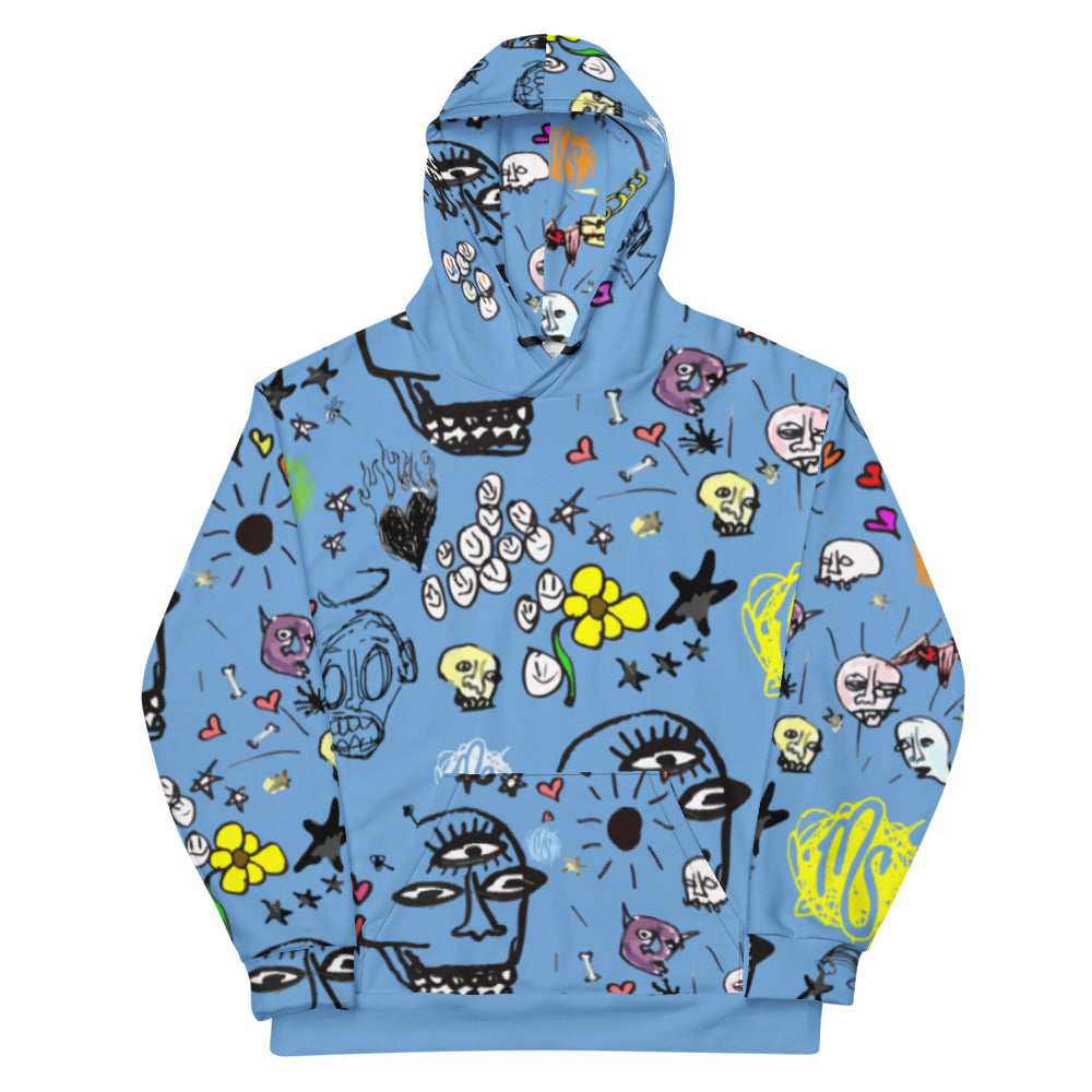 Art All Over Blue Hoodie
