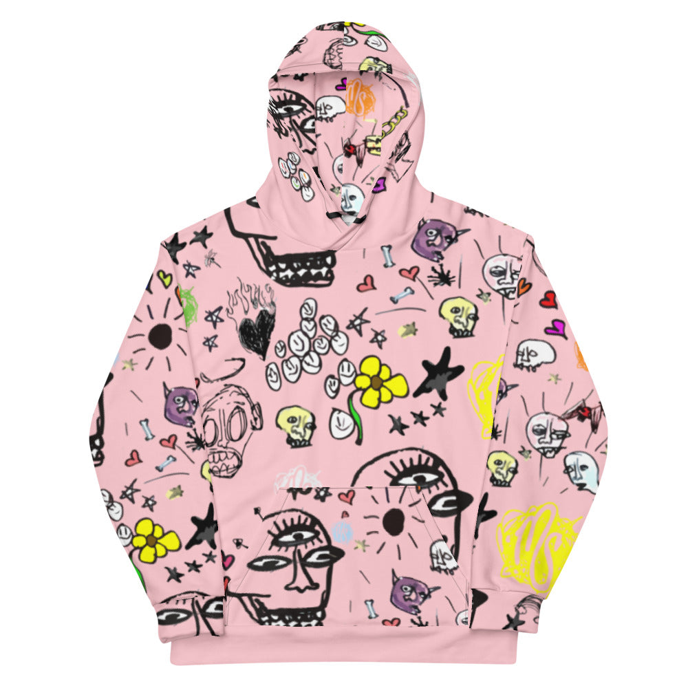 Art All Over Pink Hoodie