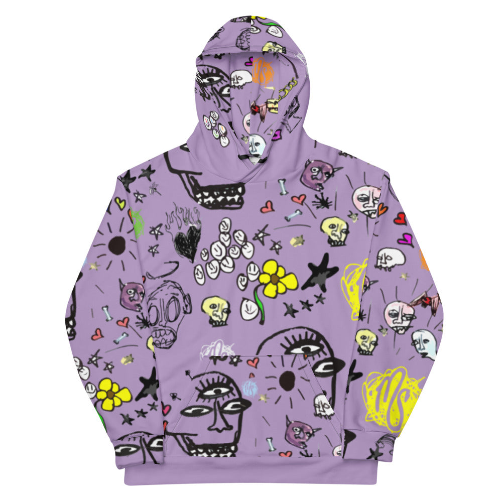 Art All Over Purple Hoodie