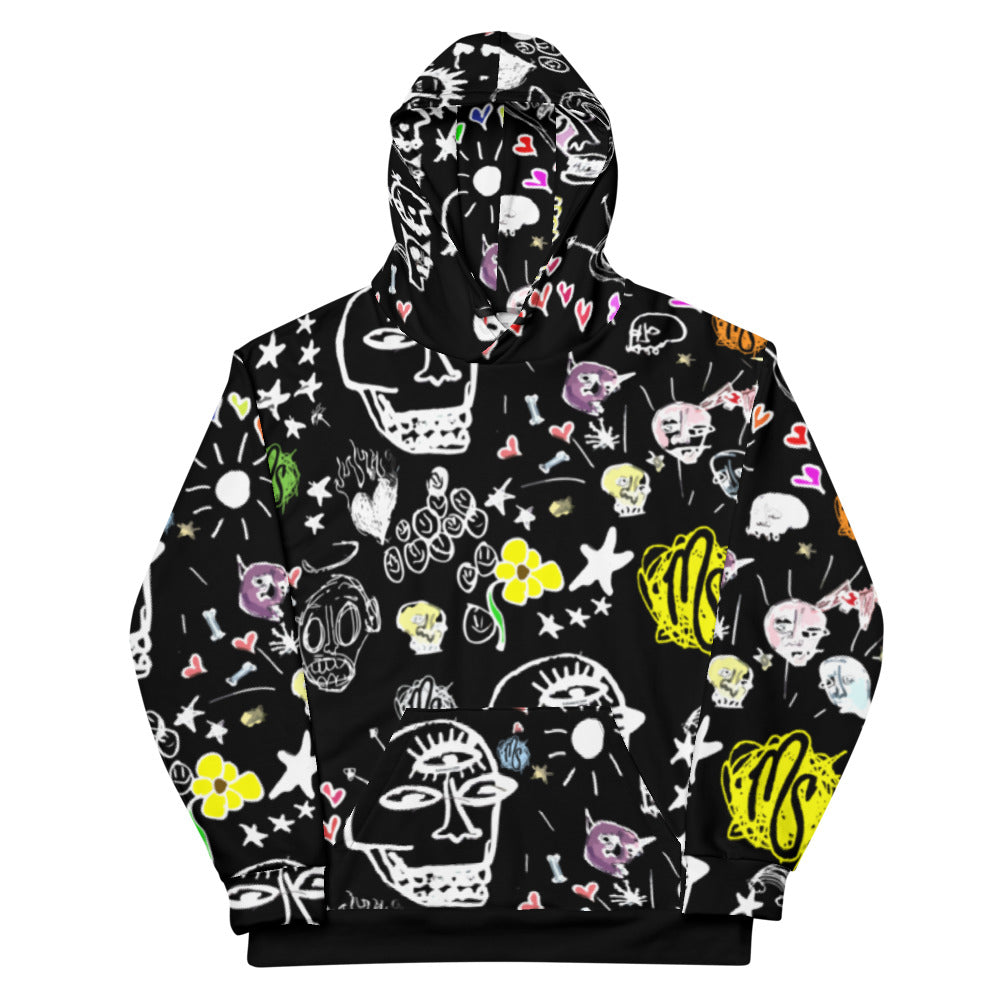 Art All Over Black Hoodie