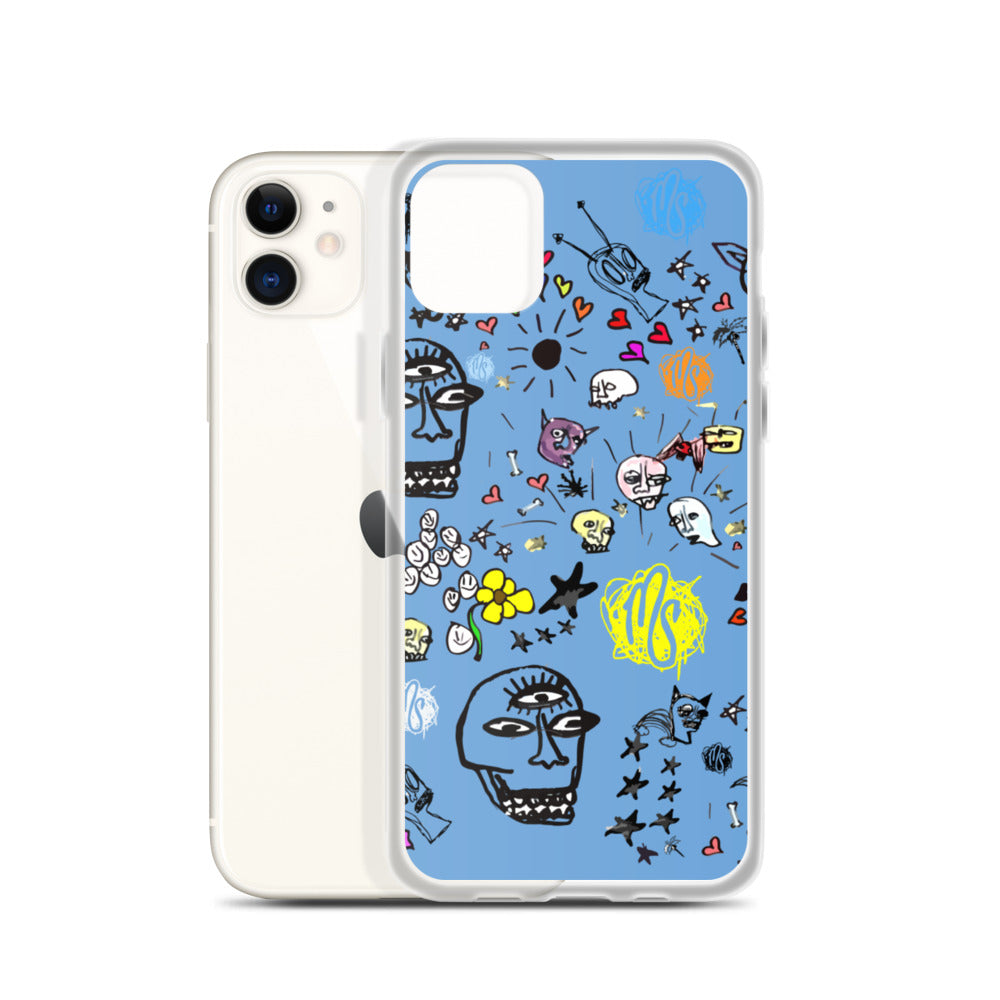 Art All Over Blue iPhone Case