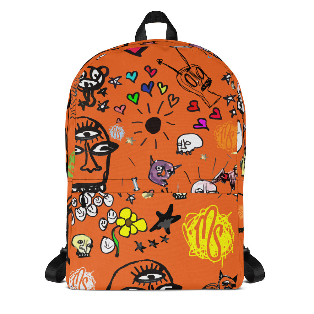 Art All Over Orange Backpack