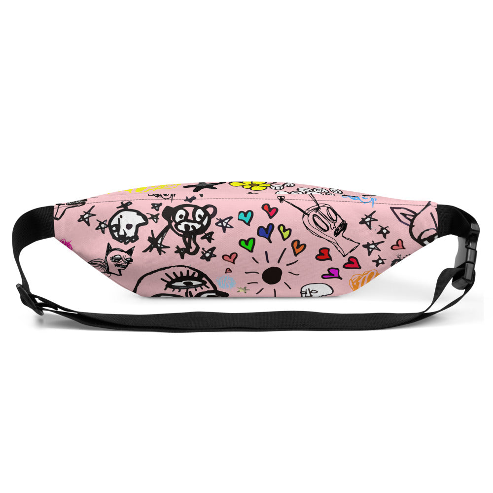Art All Over Pink Fanny Pack