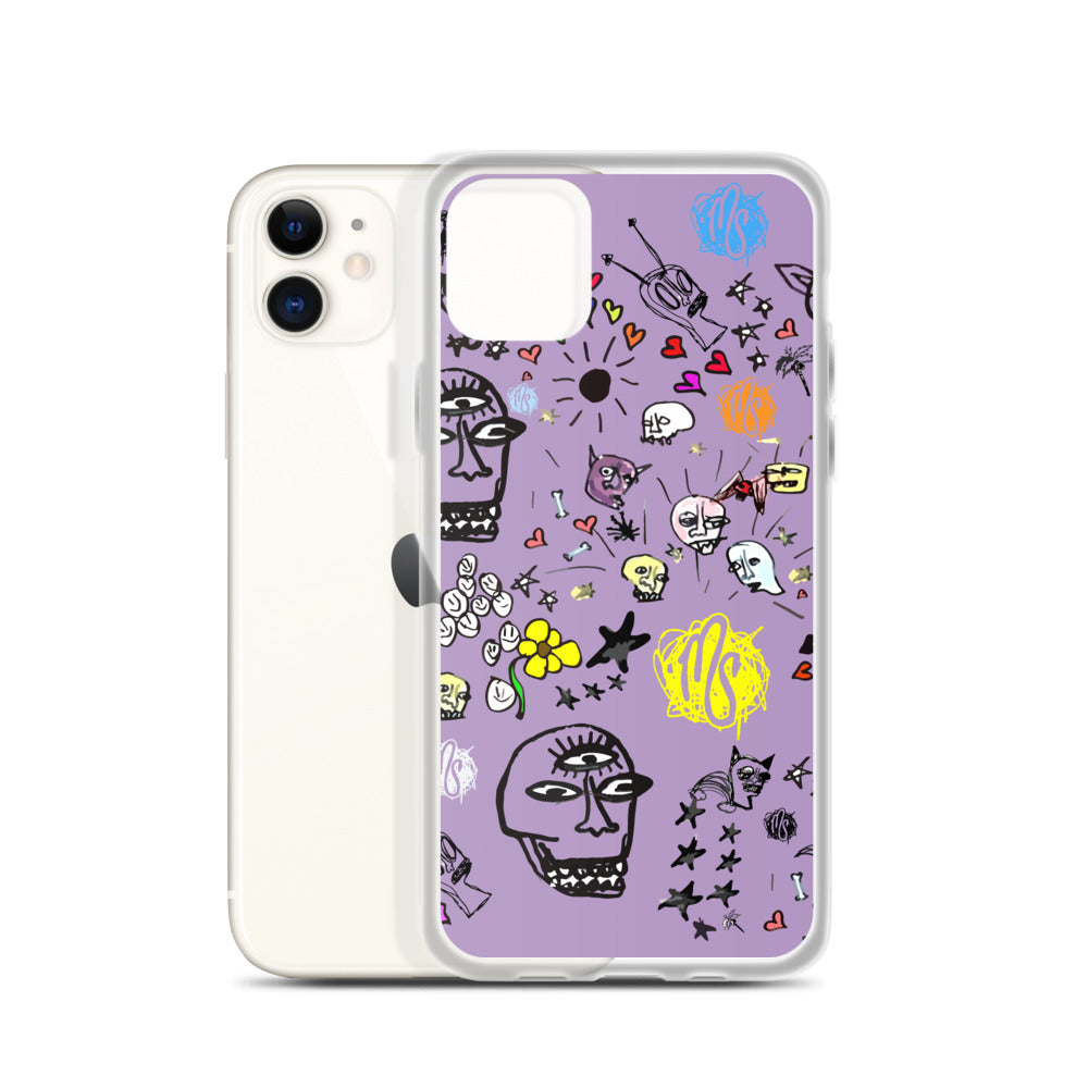 Art All Over Purple iPhone Case