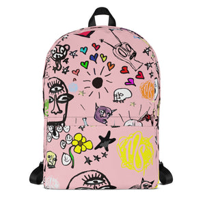 Art All Over Pink Backpack