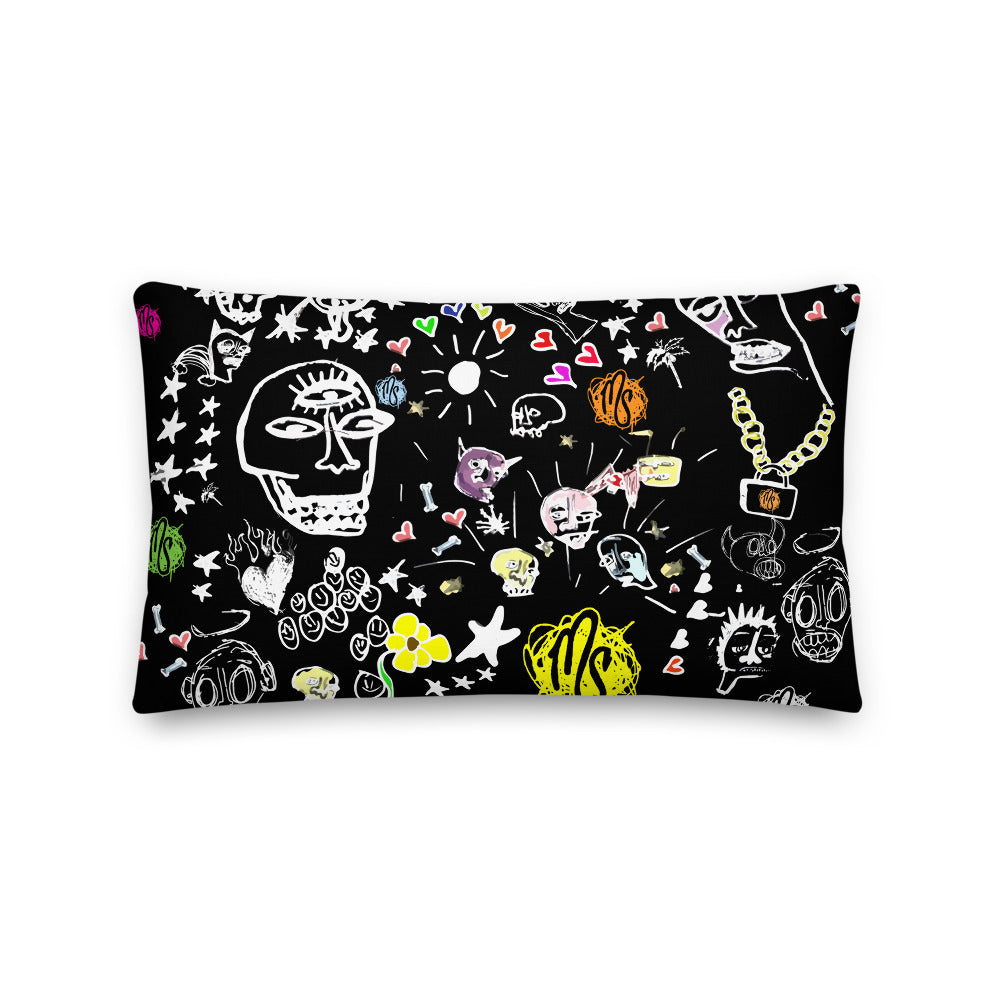 Art All Over Premium Black Pillow