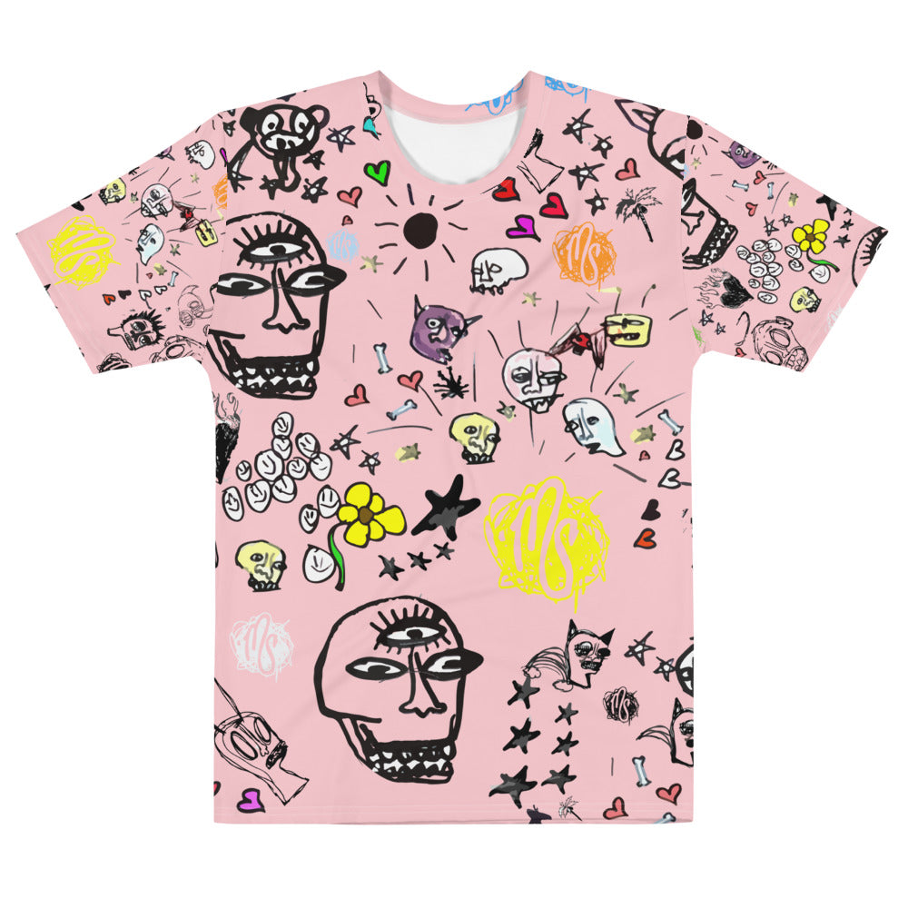 Art All Over Men's Pink T-shirt