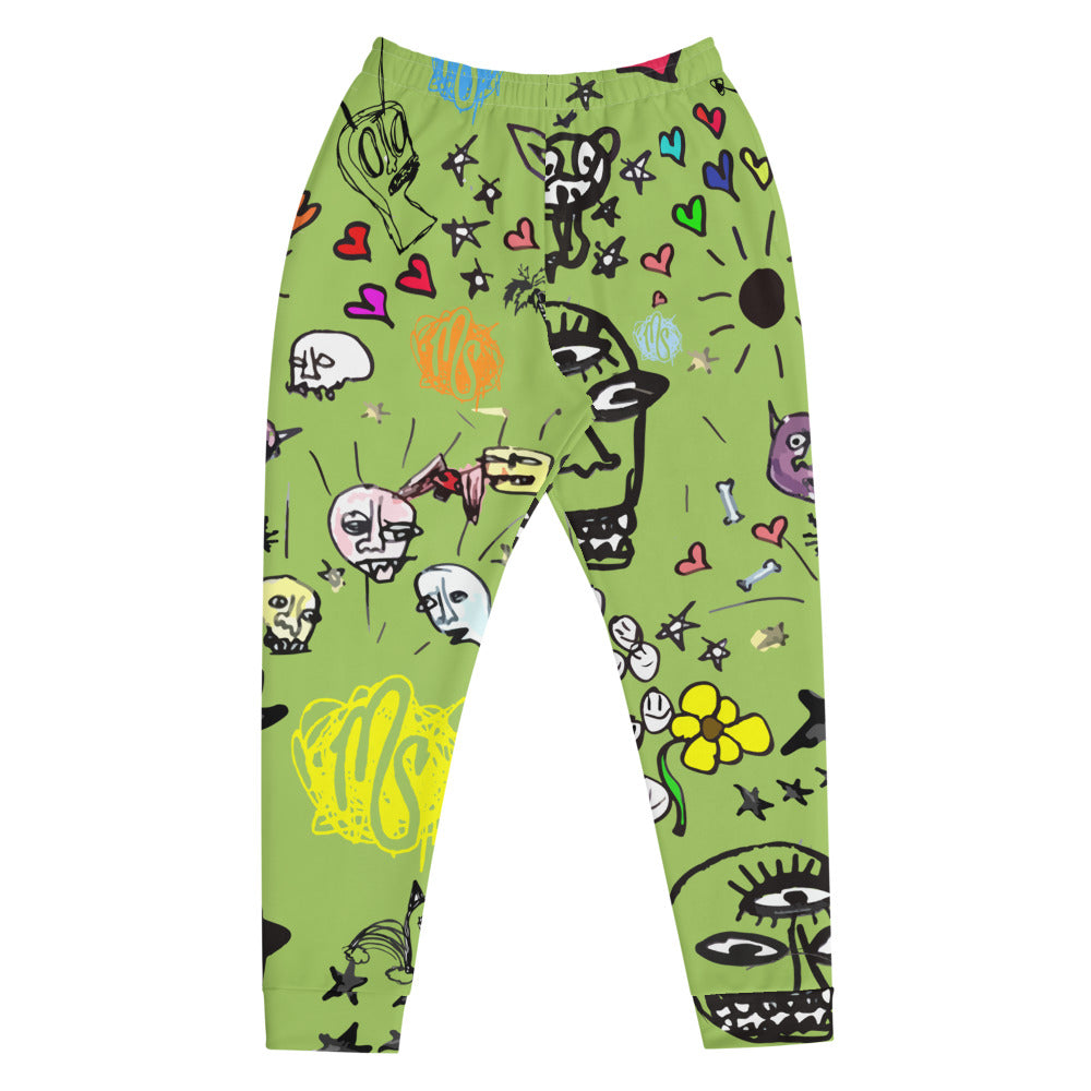 Art All Over Men's Green Joggers