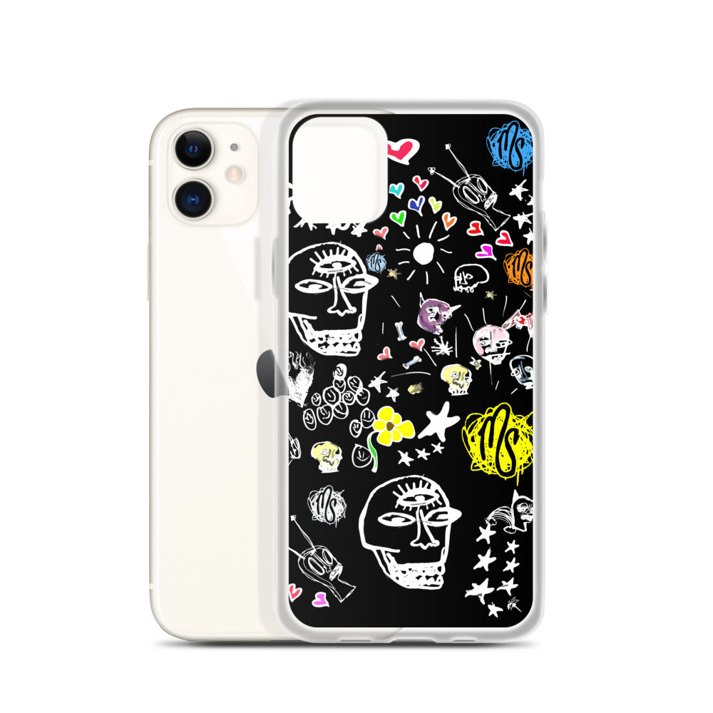 Art All Over Black iPhone Case