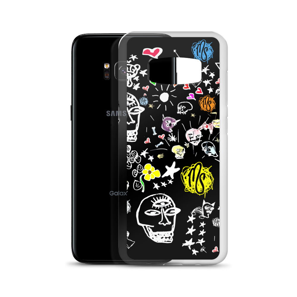 Art All Over Black Samsung Case