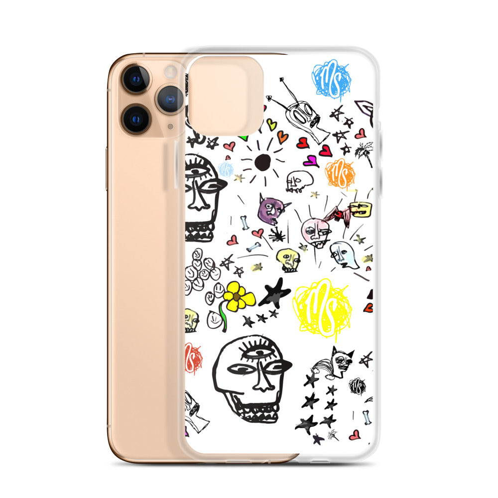 Art All Over White iPhone Case
