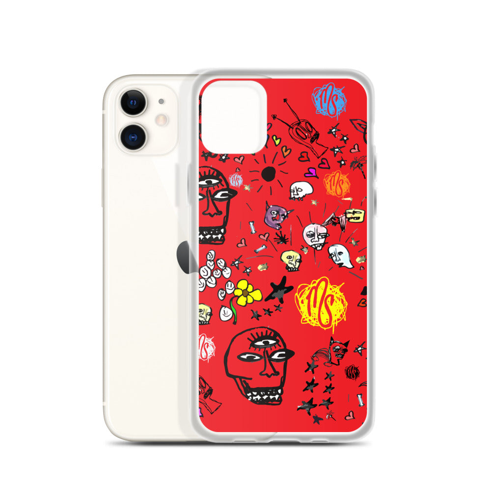 Art All Over Red iPhone Case