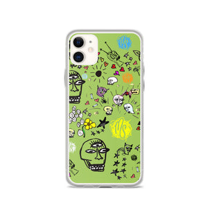 Art All Over Green iPhone Case