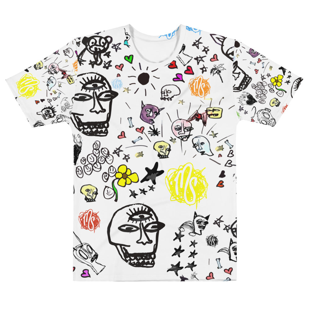 Art All Over Men's White T-shirt