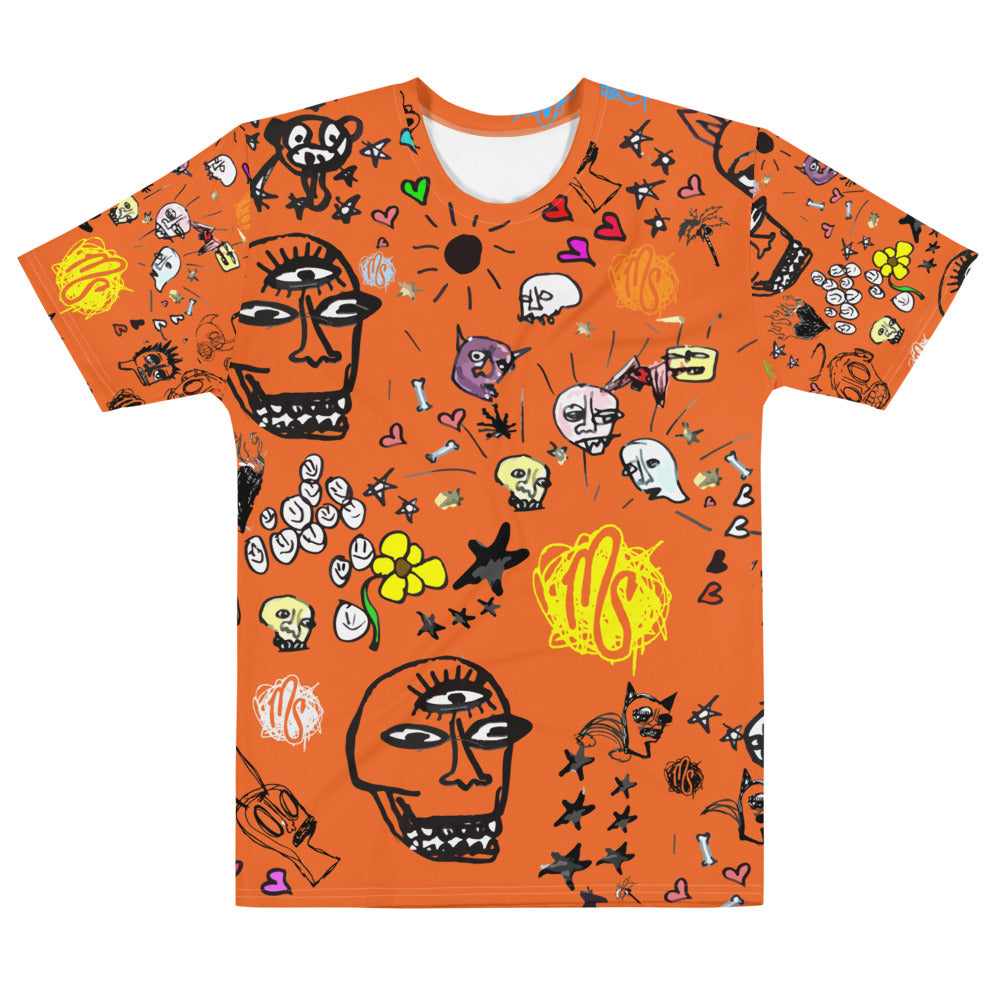 Art All Over Orange Men's T-shirt