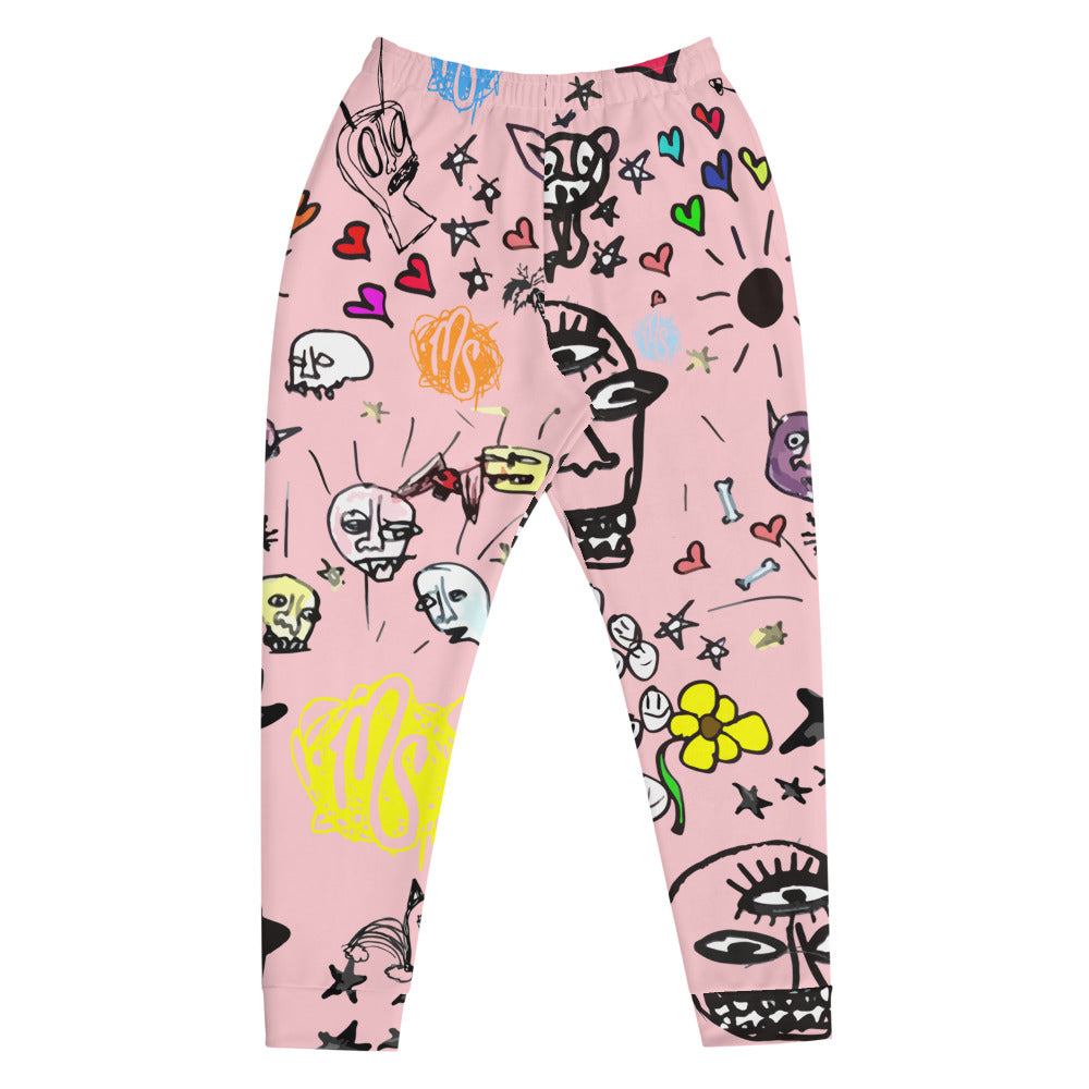 Art All Over Men's Pink Joggers