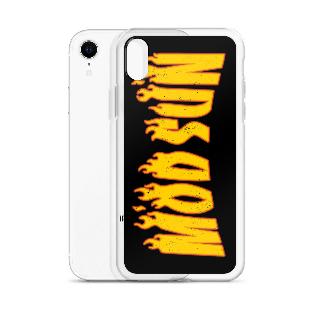 Flame Black iPhone Case
