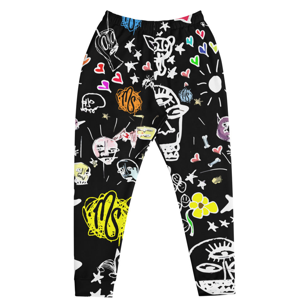 Art All Over Men's Black Joggers