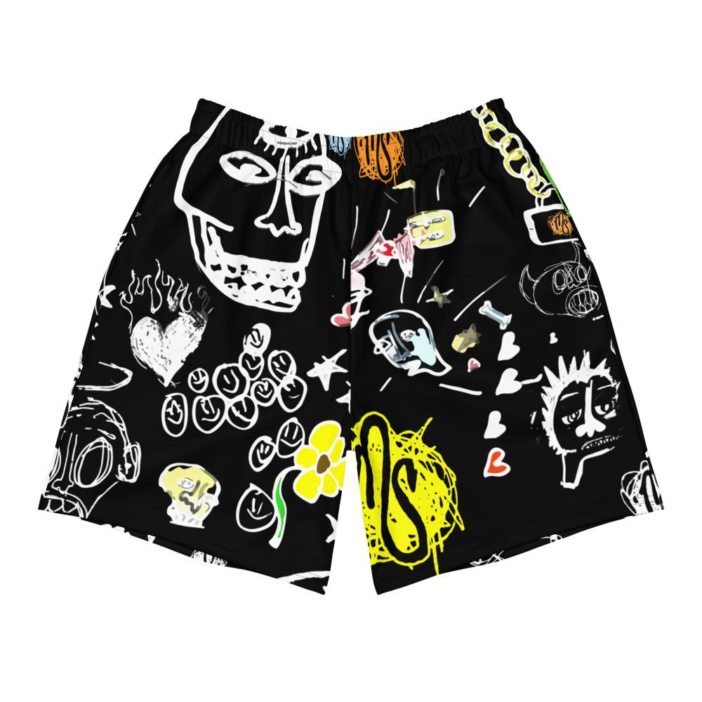 Art All Over Men's Black Shorts