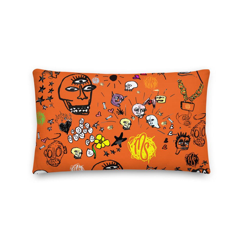 Art All Over Premium Orange Pillow