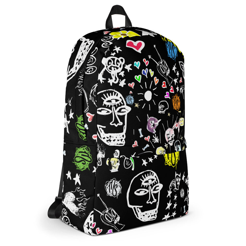 Art All Over Black Backpack