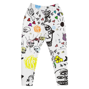 Art All Over Men's White Joggers