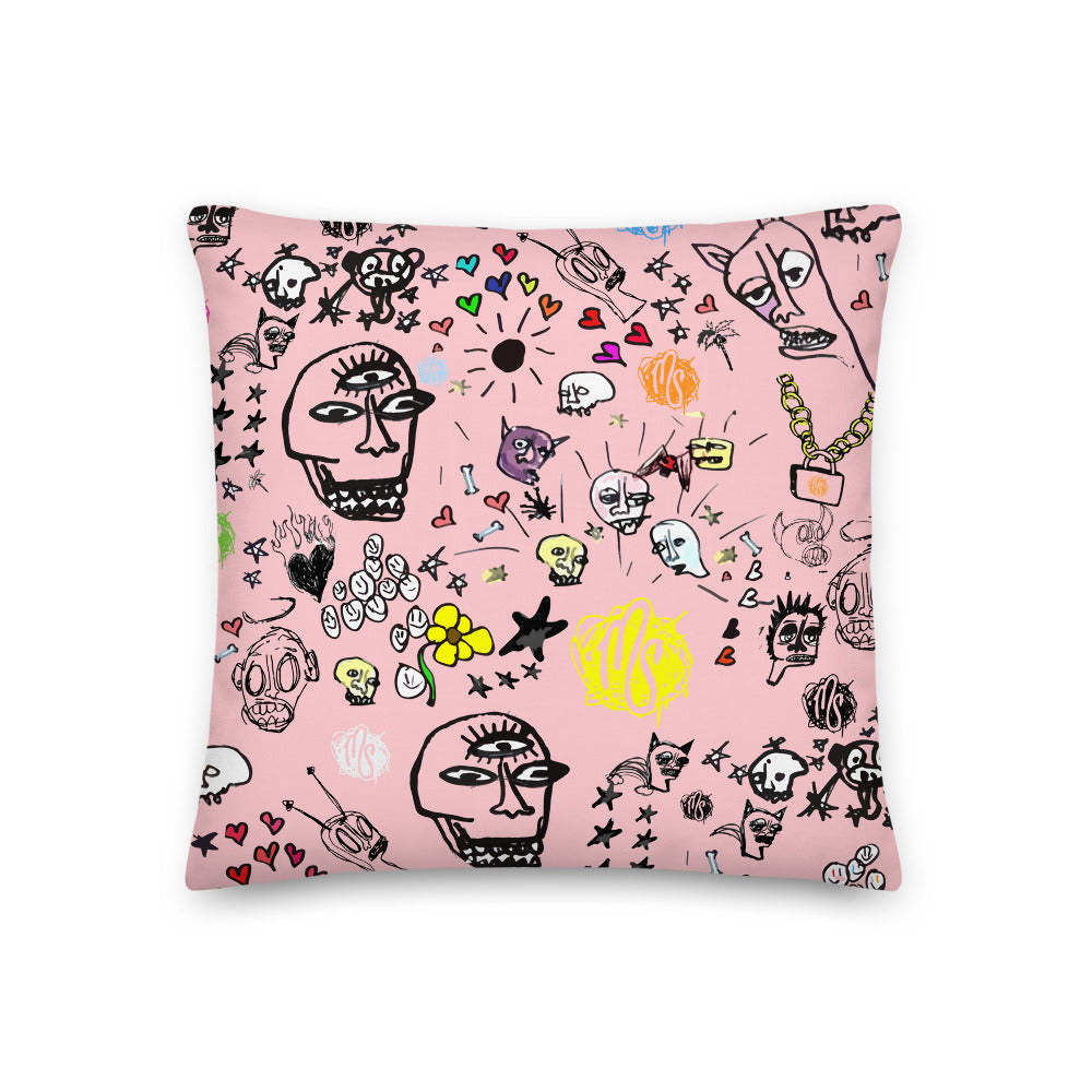 Art All Over Premium Pink Pillow