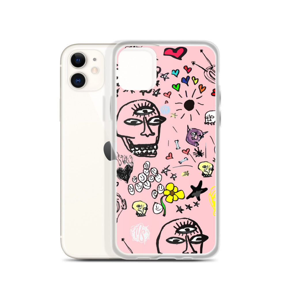 Art All Over Pink iPhone Case
