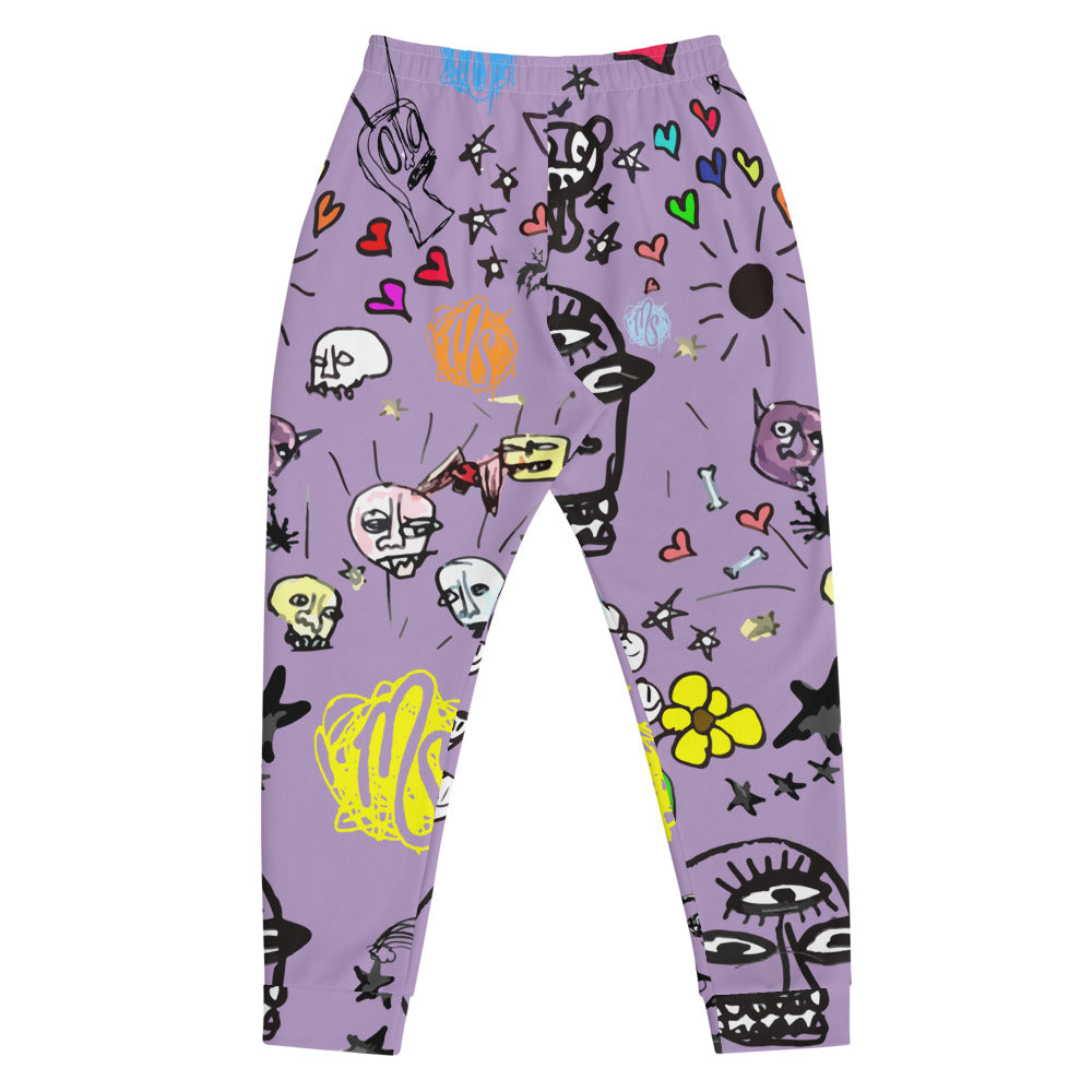Art All Over Purple Men's Joggers