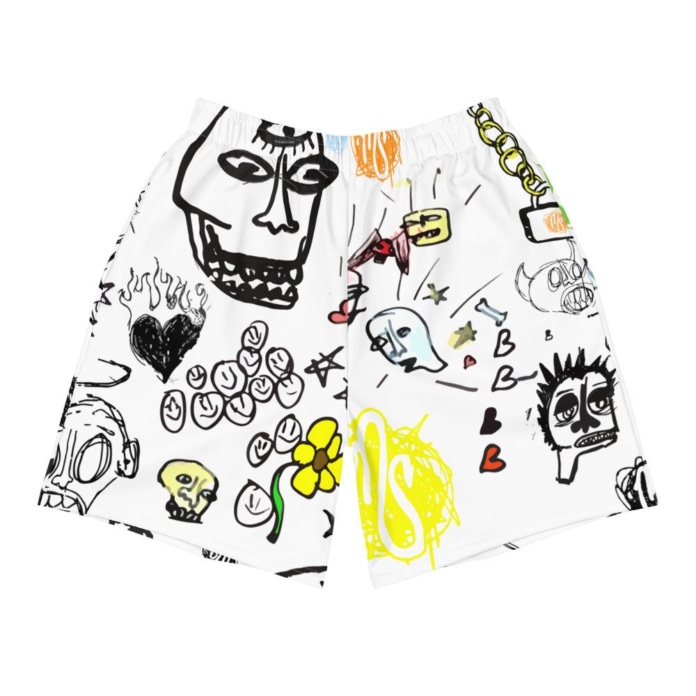 Art All Over Men's White Shorts