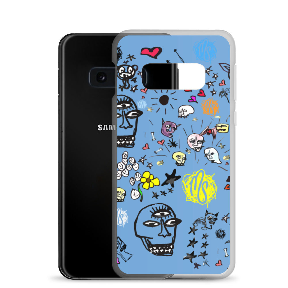 Art All Over Blue Samsung Case