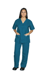 218C- Snap Front Tunic Scrub Top