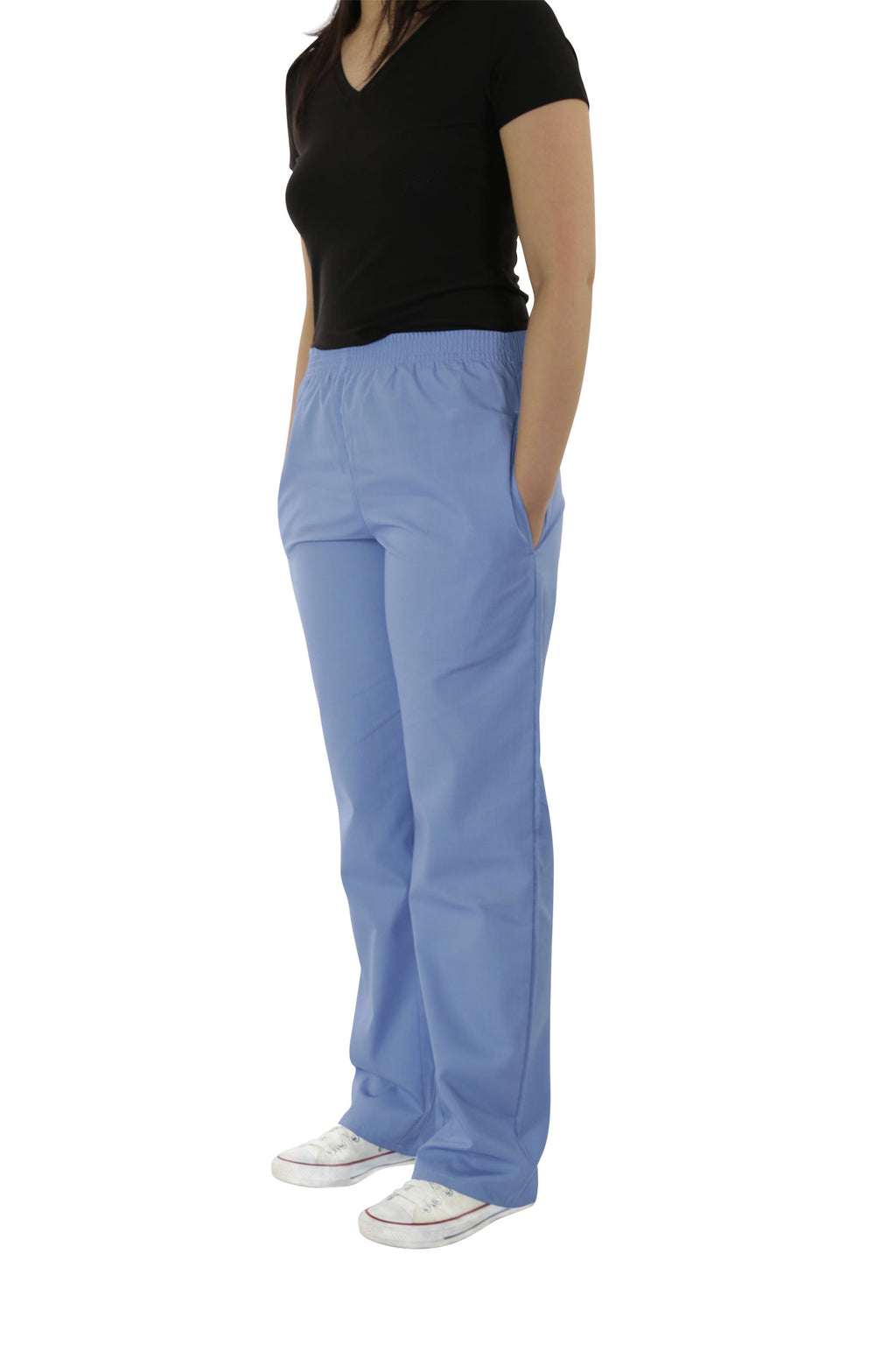 300C – Unisex Elastic Waist Scrub Pants With 2 Side Pockets