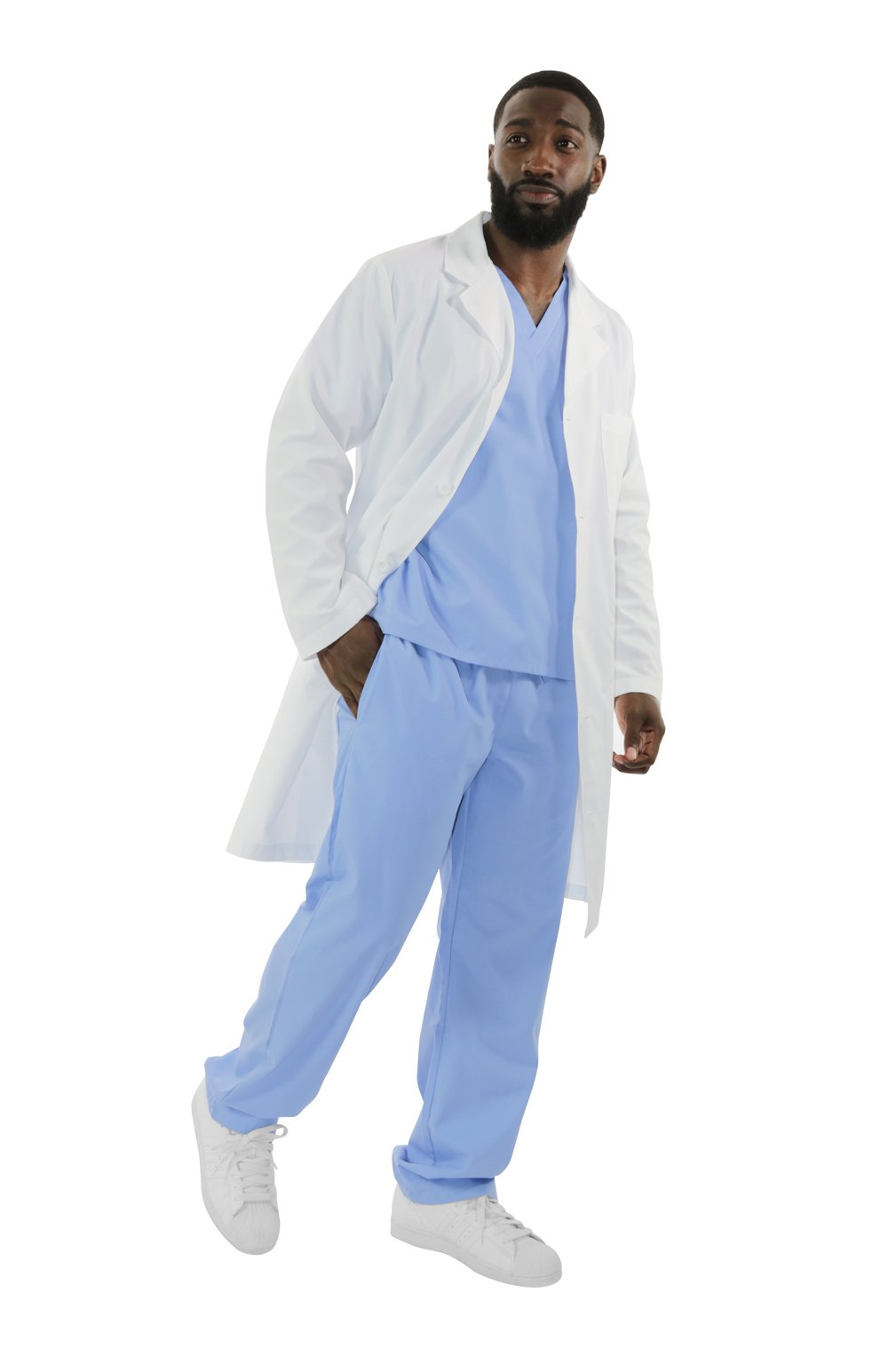 "400A - 40"" Men's Antimicrobial Lab Coat"