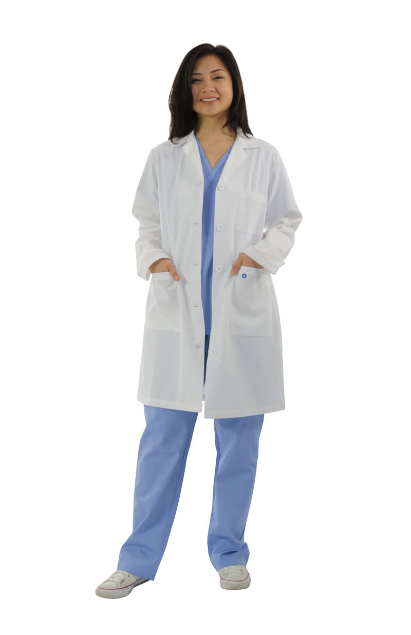 "411A- 40"" Antimicrobial Ladies Lab Coat"