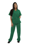 221C - Women's Two Pocket V-Neck Scrub Top