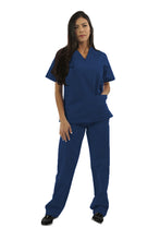 Load image into Gallery viewer, 221C - Ultrasoft Two Pocket V-Neck Scrub Top